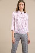 Блузка белого цвета в розовый горох Emka B2414/azima
