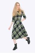 Платье в зелёную клетку Emka PL407/sage