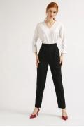 Черные брюки в полоску Emka D142/makkenzi
