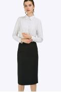 Классическая черная юбка с высокой талией Emka S775/alika