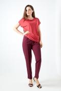 Женские брюки бордового цвета TopDesign Premium PA20 17