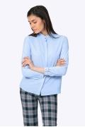 Голубая блузка с длинными рукавами Emka B2282/lullaby