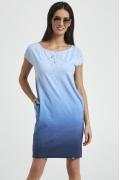 Лазурное платье из тонкого хлопкового трикотажа Enny 250039