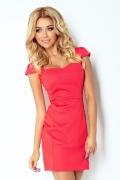 Коралловое платье Numoco 118-7