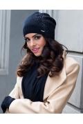 Трикотажная шапка чёрного цвета Kamea Carmela