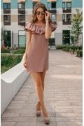 Коктейльное платье с воланом Donna Saggia DSP-277-82