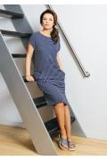 Трикотажное платье в полоску TopDesign A7 053