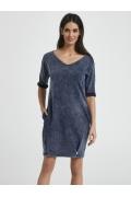 Летнее трикотажное платье с V-вырезом Ennywear 250071