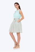 Легкая расклешенная юбка на поясе Emka 322/evelina