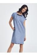 Летнее платье синего цвета из хлопка Ennywear 250018