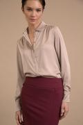 Бордовая юбка-миди на широкой кокетке Emka S779/veila