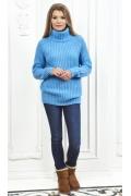 Женский свитер голубого цвета Andovers Z284
