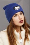 Синяя шапка Supershapka Kiss