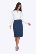 Элегантная синяя юбка Emka S369/libra