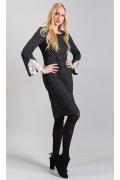 Платье из фактурной ткани в горошек TopDesign B8 099