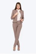 Женские брюки в мелкую гусиную лапку Emka D-004/rozali