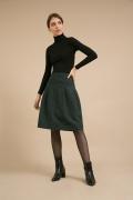 Темно-зеленая  юбка А-силуэта Emka S848/volada