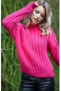 Тёплый розовый свитер Fobya F591