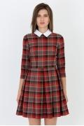 Платье в клетку Emka Fashion PL-413/rishi