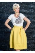 Жёлтая фактурная юбка Flaibach 090S7