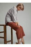 Укороченные брюки терракото- вого цвета Emka D184/water
