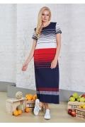 Длинное платье из тонкого трикотажа TopDesign A8 147