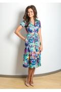Цветное летнее платье TopDesign A7 045