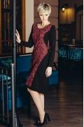 Платье с ажурной алой вязью Flaibach 073W6