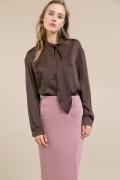 Прямая юбка нежно-розового цвета Emka S834/caribo