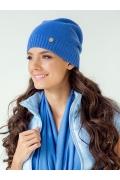Молодёжная шапка голубого цвета Landre Берта