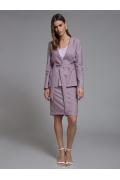 Малиновая юбка с орнаментом гусиная лапка Emka S202-60/kurams