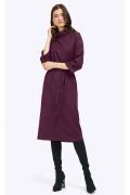 Бордовое платье-миди с воротником хомут Emka PL797/starley