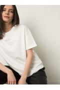 Белая хлопковая футболка Emka B2609/belou