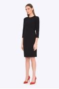 Чёрное приталенное платье Emka PL751/night