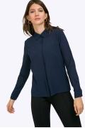 Тёмно-синяя блузка с длинными рукавами Emka B2260/marika
