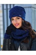 Женская меланжевая шапка Kamea Patrizia
