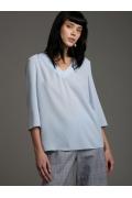 Голубая блуза свободного кроя Emka B2502/lubomila