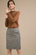 Серая прямая юбка Emka S866/murli