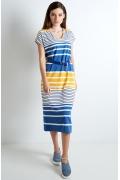 Летнее трикотажное платье TopDesign A20 076