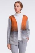 Серо-оранжевый женский жакет Sunwear U18