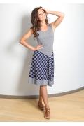 Летнее платье в полоску-ёлочку TopDesign A7 047