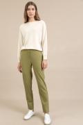 Зеленые зауженные брюки Emka D169/rimba