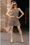 Коктейльное платье с воланом по низу Donna Saggia DSP-330-15