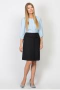Чёрная прямая юбка Emka Fashion 609-dorofeya
