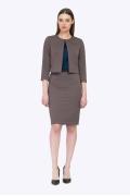 Офисная миди-юбка цвета мокко Emka S656/selena