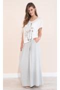 Длинная летняя трикотажная юбка серого цвета Zaps Latia