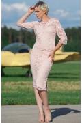 Светло-розовая кружевная юбка Flaibach 015S8