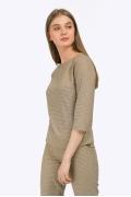 Стильная блуза песочного оттенка Emka B2204/kesha