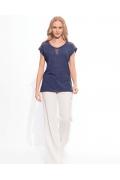 Тёмно-синяя блузка Sunwear W12-2