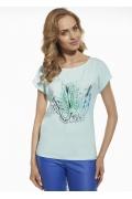 Женская футболка из хлопка с принтом Briana 8802